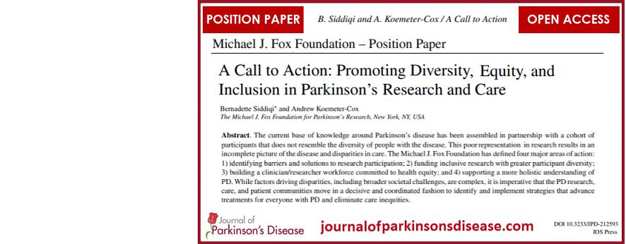 MJFF Position Paper #1